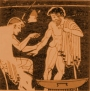 Bloodletting as depicted by the ancient Greeks.